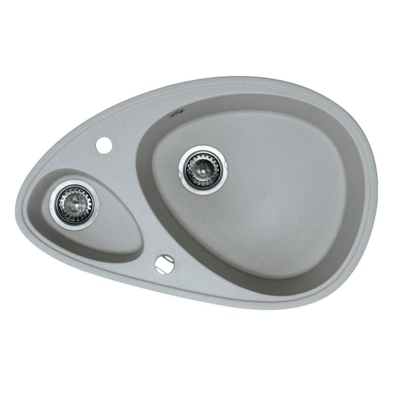 Metalac granitni usadni sudoper xElipse siva 780x500 ø90