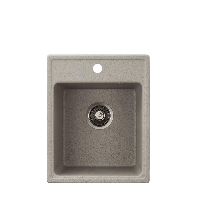 Metalac granitni usadni sudoper xQuadro 40 bež 400x500 Ø90