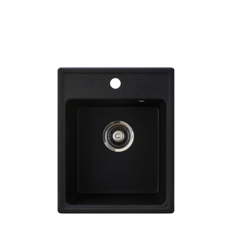 Metalac granitni usadni sudoper xQuadro 40 crna 400x500 Ø90