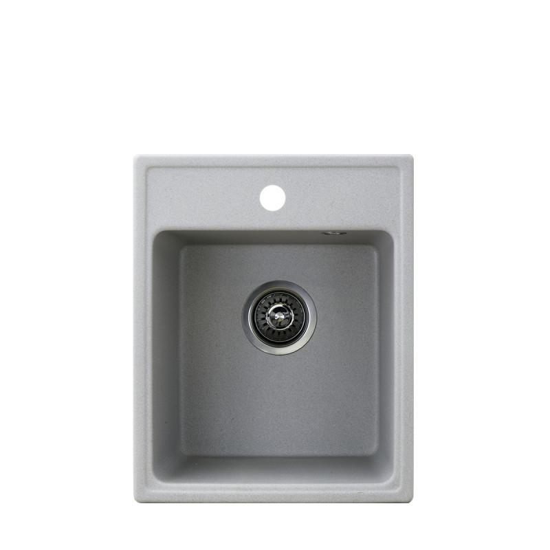 Metalac granitni usadni sudoper xQuadro 40 siva 400x500 Ø90