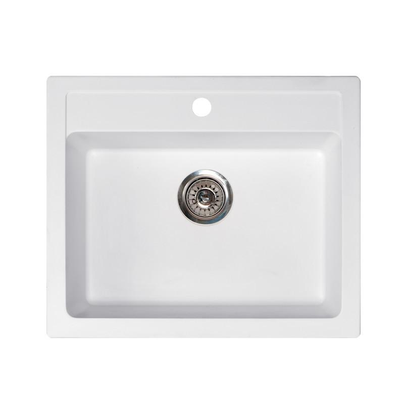 Metalac granitni usadni sudoper xQuadro 60 bijela 600x500 Ø90