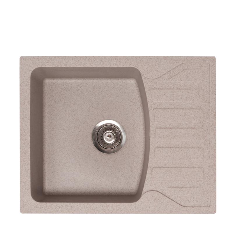 Metalac granitni usadni sudoper xQuadro M bež 620x500 Ø90