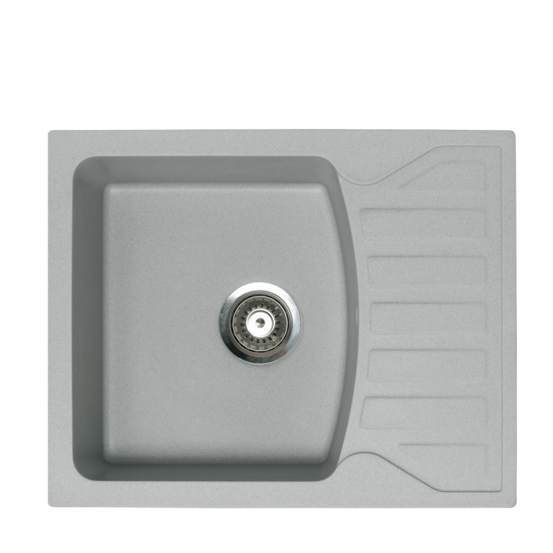 Metalac granitni usadni sudoper xQuadro M siva 620x500 Ø90