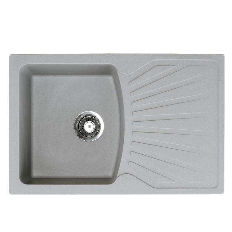 Metalac granitni usadni sudoper xQuadro Plus siva 770x500 Ø90