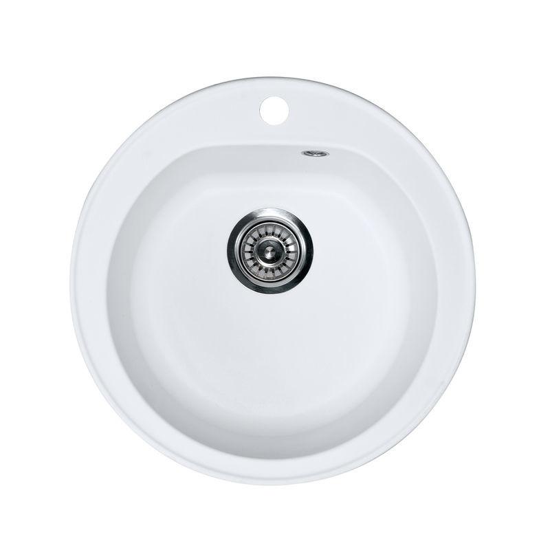 Metalac granitni usadni sudoper xVenera bijela E510 ø90