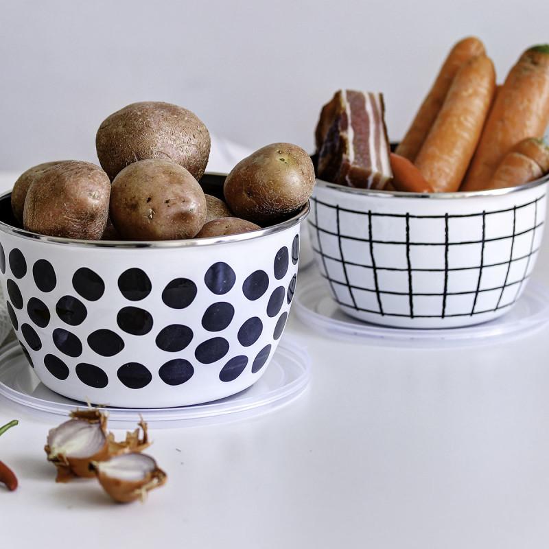 Metalac posuda za ?uvanje hrane DOTS&LINES 14cm/1,1lit