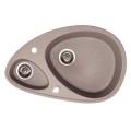 Metalac granitni usadni sudoper xElipse bež 780x500 ø90