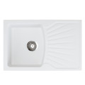 Metalac granitni usadni sudoper xQuadro Plus bijela 770x500 Ø90