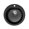 Metalac granitni usadni sudoper xVenera crna E510 ø90